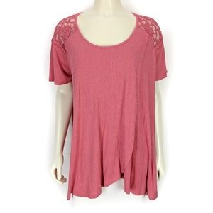Jessica Simpson Coral Nursing Top Extra Large